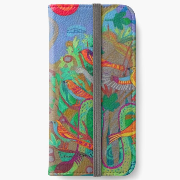 Two Trees and Fig Leaves in the Garden of Desire iPhone Wallet