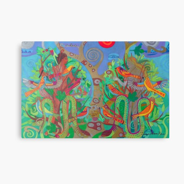 Two Trees and Fig Leaves in the Garden of Desire Canvas Print