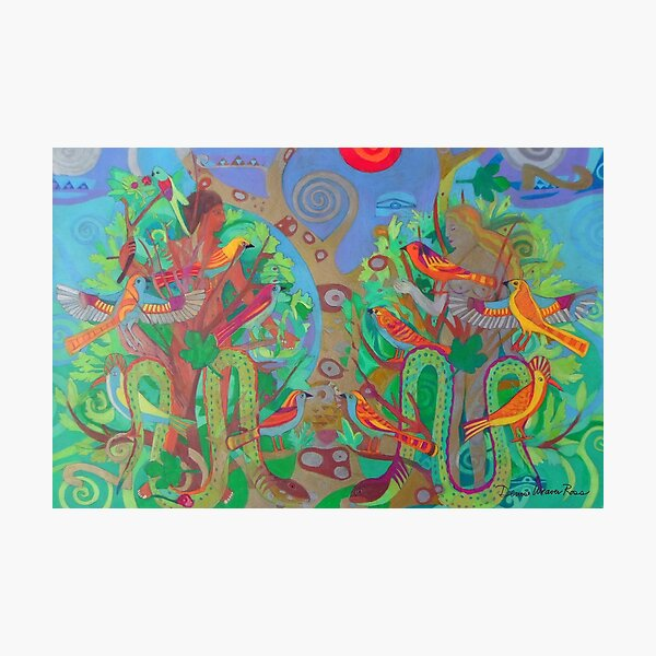 Two Trees and Fig Leaves in the Garden of Desire Photographic Print