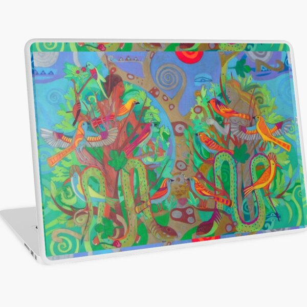 Two Trees and Fig Leaves in the Garden of Desire Laptop Skin