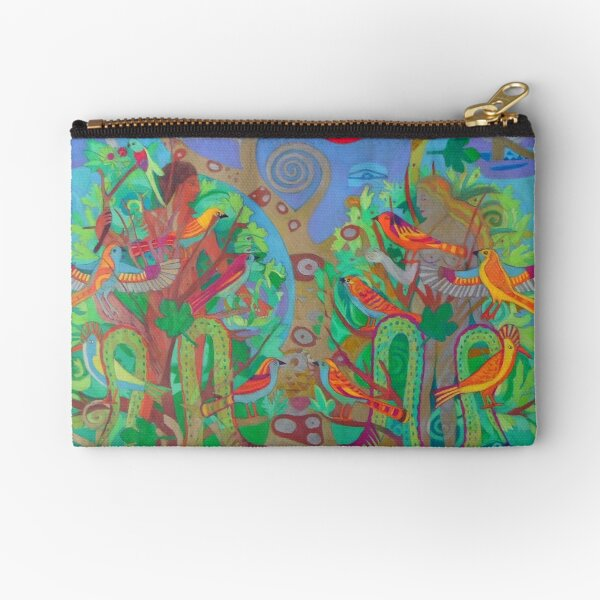 Two Trees and Fig Leaves in the Garden of Desire Zipper Pouch
