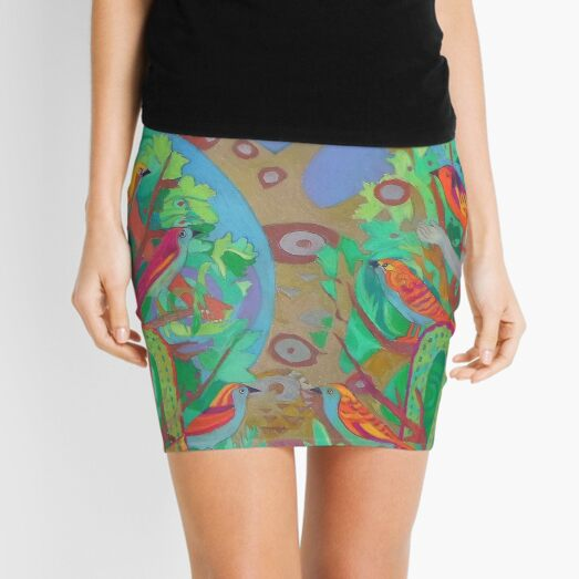 Two Trees and Fig Leaves in the Garden of Desire Mini Skirt