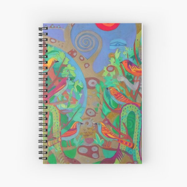 Two Trees and Fig Leaves in the Garden of Desire Spiral Notebook