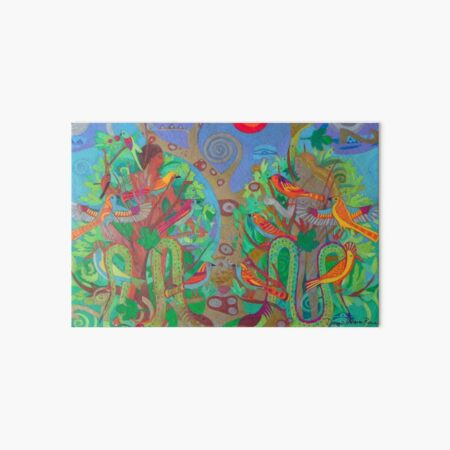 Two Trees and Fig Leaves in the Garden of Desire Art Board Print