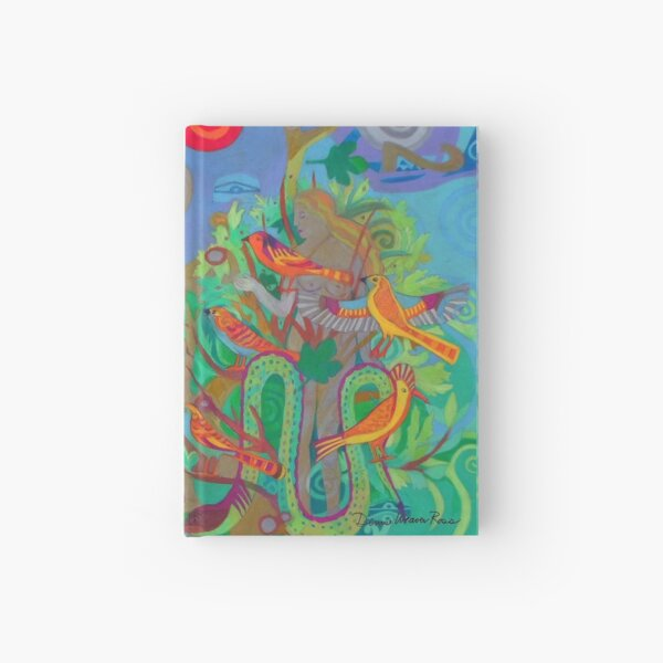 Two Trees and Fig Leaves in the Garden of Desire Hardcover Journal