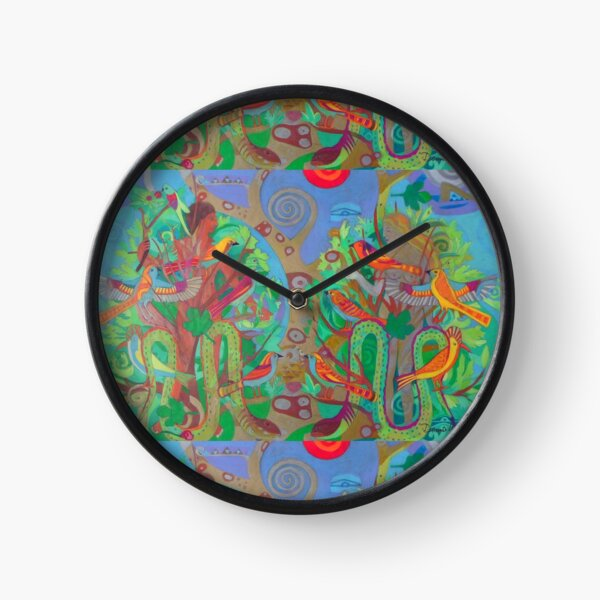 Two Trees and Fig Leaves in the Garden of Desire Clock