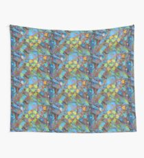 Seven Cottonwoods of the Bosque Wall Tapestry