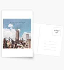 Die größte Stadt Postkarten