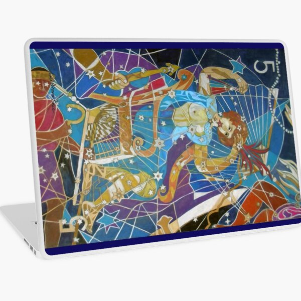 Five Stars of the Night Queen Laptop Skin