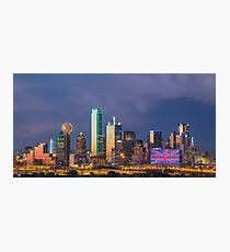 "Dallas ""Manchester"" Tribute Skyline Photographic Print"