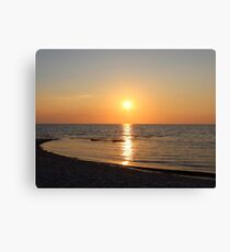 Sandy Sunset at Skaket Canvas Print