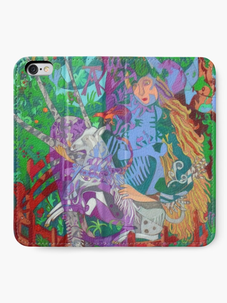 Alternate view of Archeology of the Unicorn iPhone Wallet