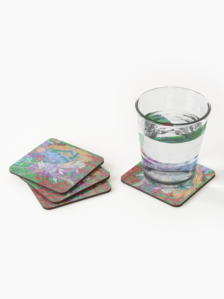 Alternate view of Archeology of the Unicorn Coasters (Set of 4)