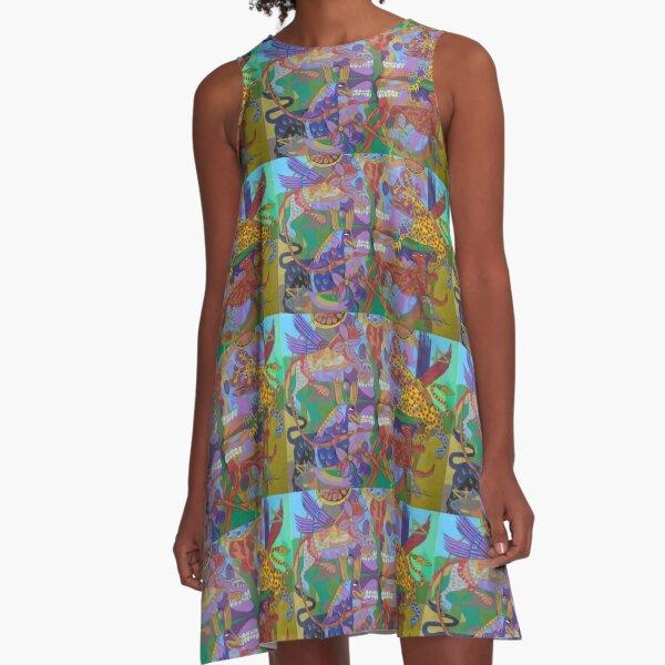 Four Corners of the Mind A-Line Dress