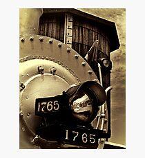 Antique locomotive Photographic Print