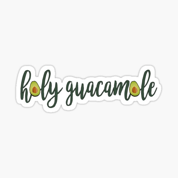 Avocado Holy Guacamole Sticker