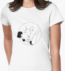 floral girl Womens Fitted T-Shirt