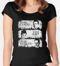 The Good, The Bad and The Butler Women's Fitted Scoop T-Shirt