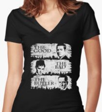 The Good, The Bad and The Butler Women's Fitted V-Neck T-Shirt