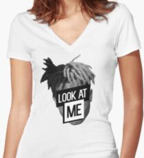 xxxTentacion- Look At Me Women's Fitted V-Neck T-Shirt