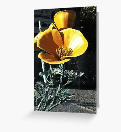 Faux Yellow Flower Greeting Card