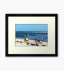 Beach & Bar Framed Print
