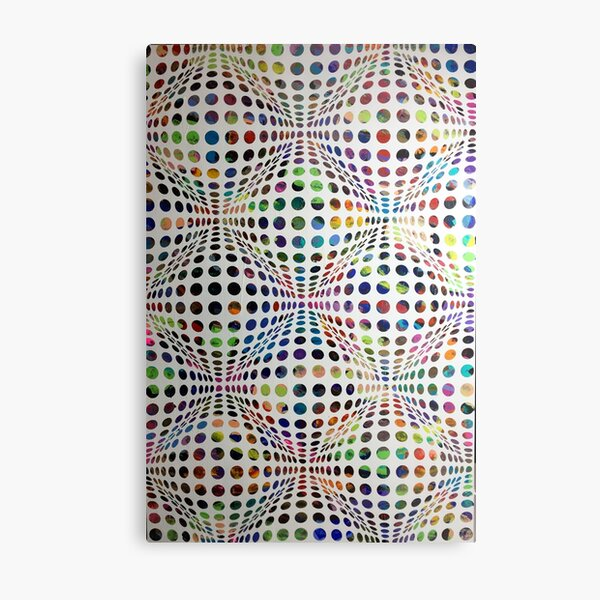 Homage (To Victor Vasarely) Metal Print