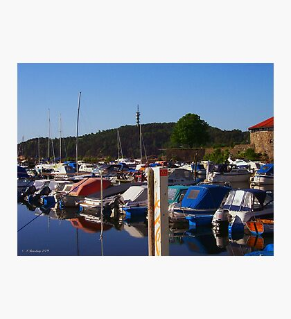 Kristiansand Marina Photographic Print