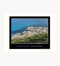 Esperance coastline Art Print