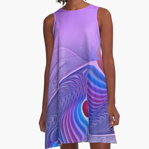 elegance for you - lightlilac A-Linien Kleid