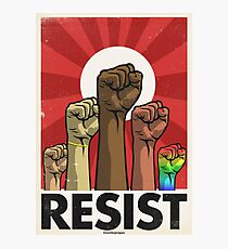 Resist Fists Variant (Vector Recreation) Photographic Print