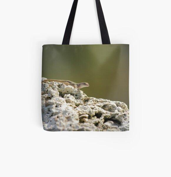 Lizard All Over Print Tote Bag