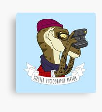 Hipster Photography Raptor Canvas Print