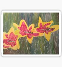 Red and Yellow Flowers Sticker