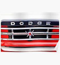 1960 Dodge Truck Grille Emblem -0275c Poster