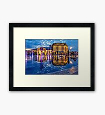 Fountains of the Post Square Framed Print