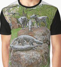Thylacine Sculpture Graphic T-Shirt