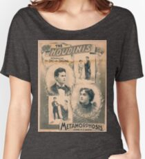 Houdini, Metamorphosis, vintage theater poster - B&W Women's Relaxed Fit T-Shirt