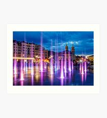 Fountains of the Post Square Art Print