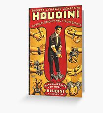 Houdini, vintage theater poster - color Greeting Card