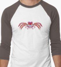 Fractal Bird Men's Baseball ¾ T-Shirt
