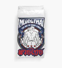 muay thai fighter strong back thailand martial art Duvet Cover