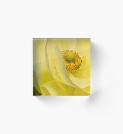 Sanftes Gelb Acrylblock