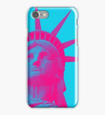 statue of liberty in pink iPhone Case/Skin