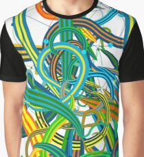 Bipolar Mania Rollercoaster Abstract Graphic T-Shirt