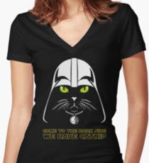 Come to the Dark Side Women's Fitted V-Neck T-Shirt