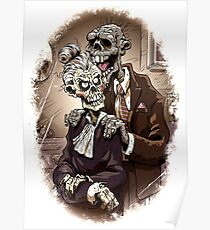 Zombie Couple Living Togather Forever Poster