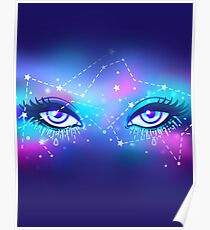 Galaxy in your eyes Poster