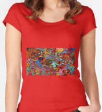 Psychedelic Mix Women's Fitted Scoop T-Shirt