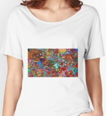 Psychedelic Mix Women's Relaxed Fit T-Shirt